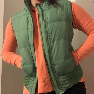Abercrombie and Fitch green vest